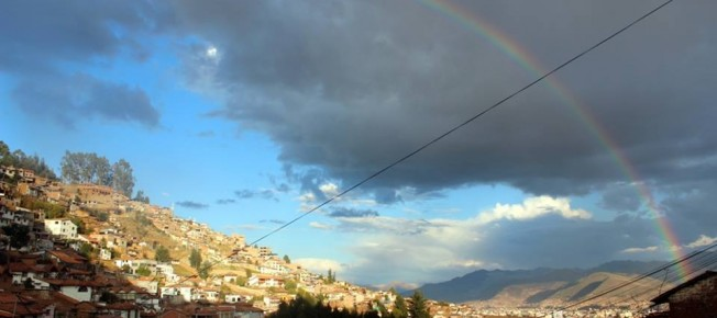 Rainbow over Cusco