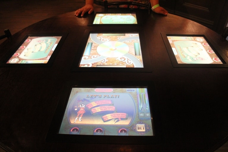 Touch-screen table games at Mob Museum