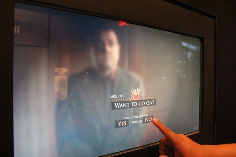 The Blood Oath is an interactive video at the Mob Museum