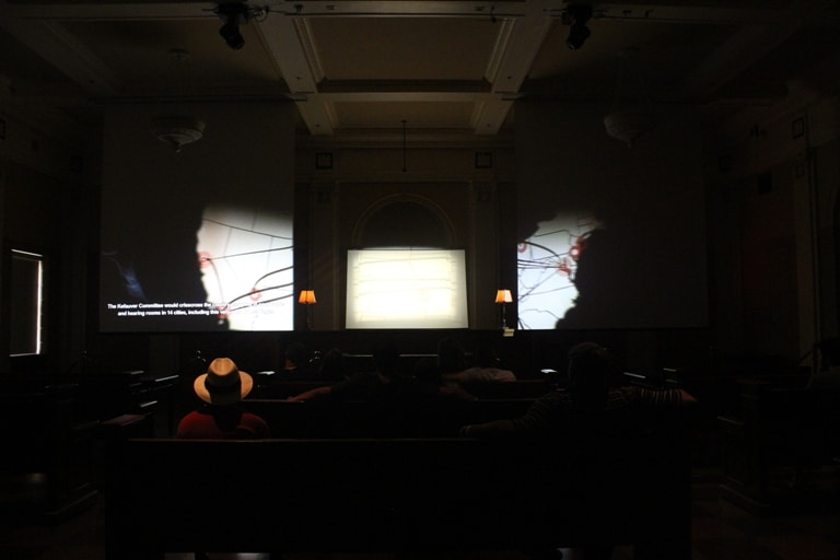 Courtroom Movie in Mob Museum