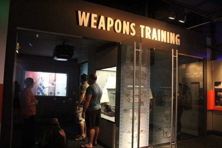 Weapons Training Simulation room in Mob Museum