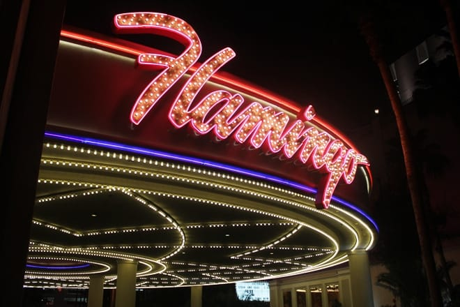 Sign at the Flamingo Hotel Las Vegas