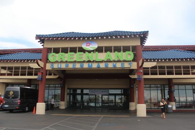 Greenland Supermarket storefront Las Vegas