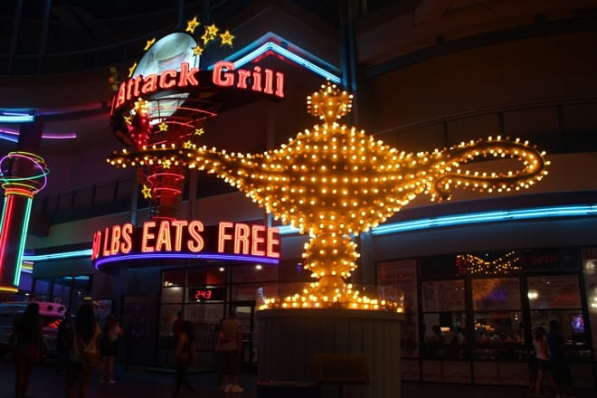 Aladdin lamp neon museum sign