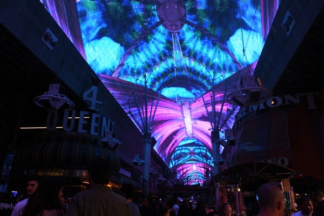 Fremont Street Experience LED light show