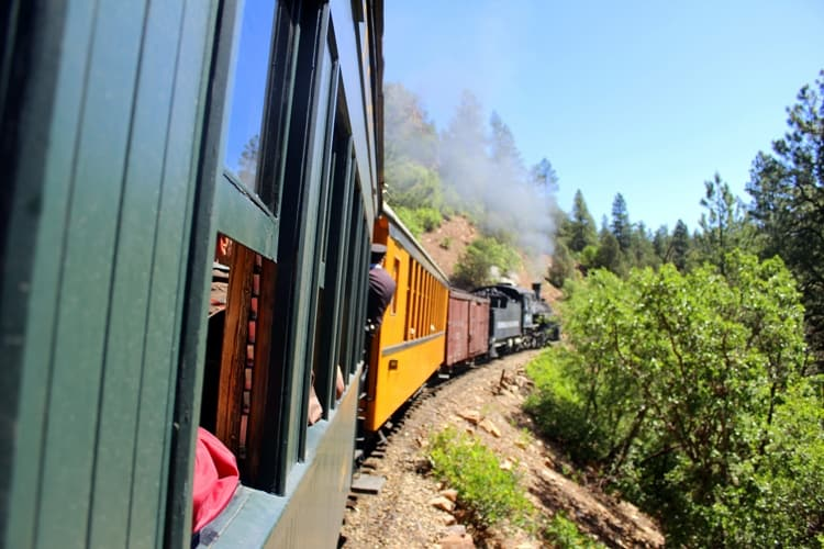 Durango Silverton Narrow Gauge Railroad train ride