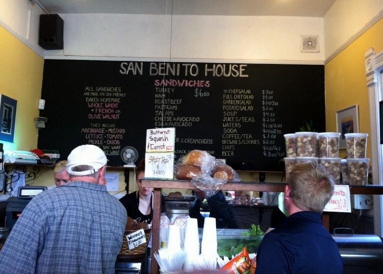 San Benito House Garden Deli menu