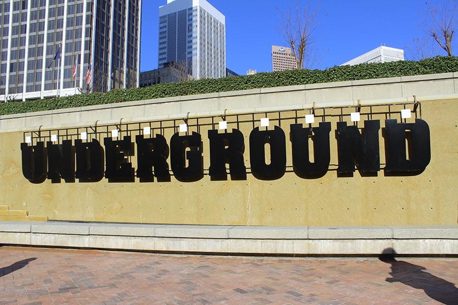 Atlanta Underground sign