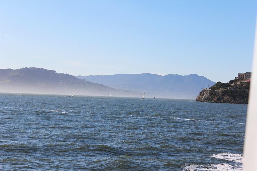 San Francisco Bay from aboard the Alcatraz ferry