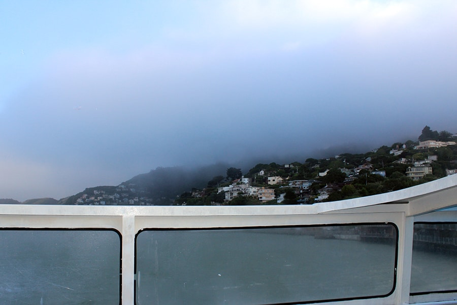 Sausalito in the fog