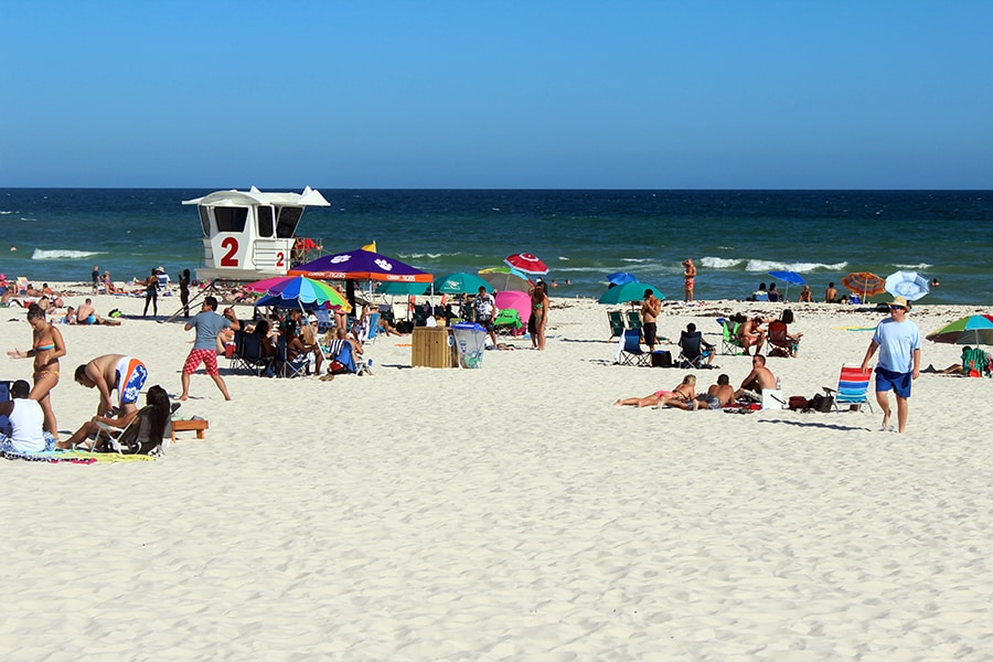This is not the best picture of Pensacola Beach. I took this on a different day, in a crowded part of the beach. I had wanted to capture how breahtaking the view was from our scooters, but I couldn't drive and take pictures at the same time (I tried though, and I nearly wrecked). Look at how white that sand is!