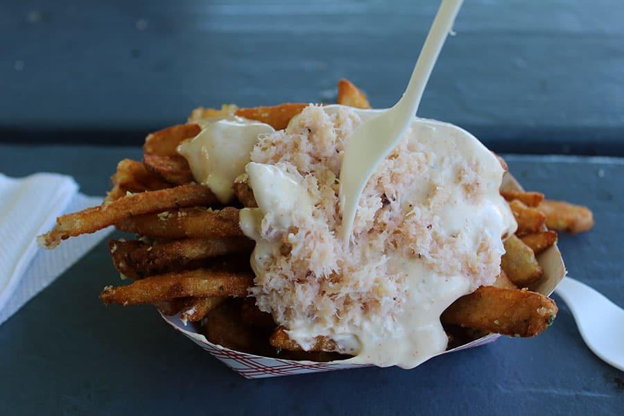 Garlic crab fries