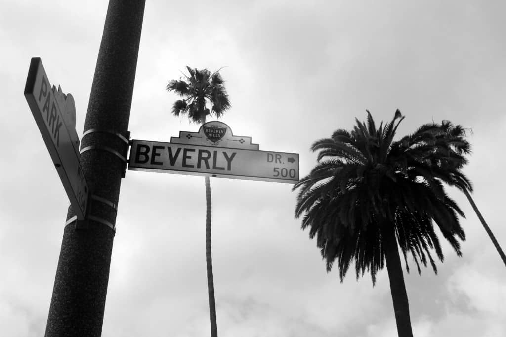 7 things to do for free on Rodeo Drive, Beverly Hills - Beverly Drive street sign