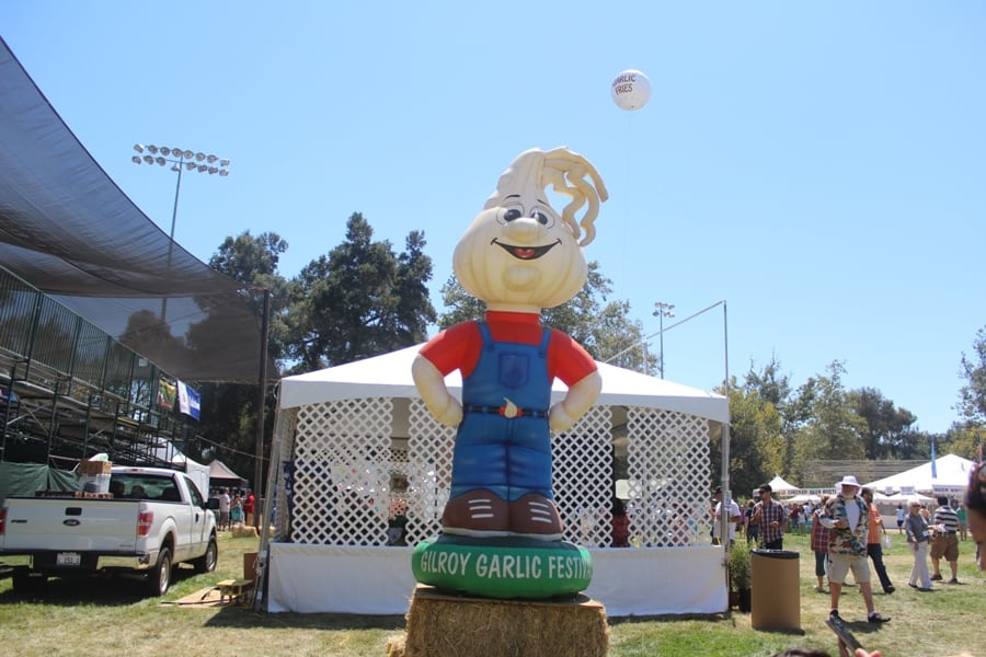 Garlic inflatable man at Gilroy Garlic Festival