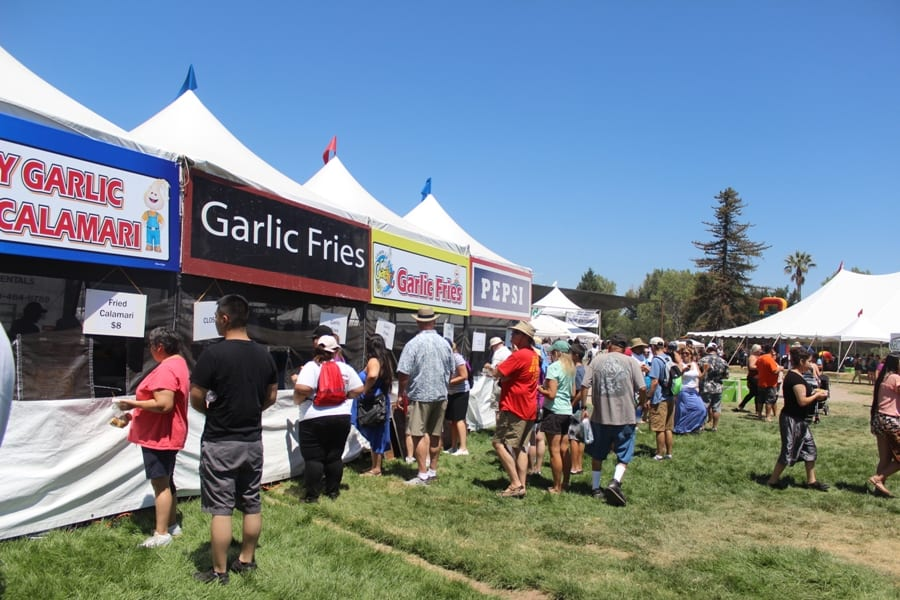 Garlic fries at the Gilroy Garlic Festival