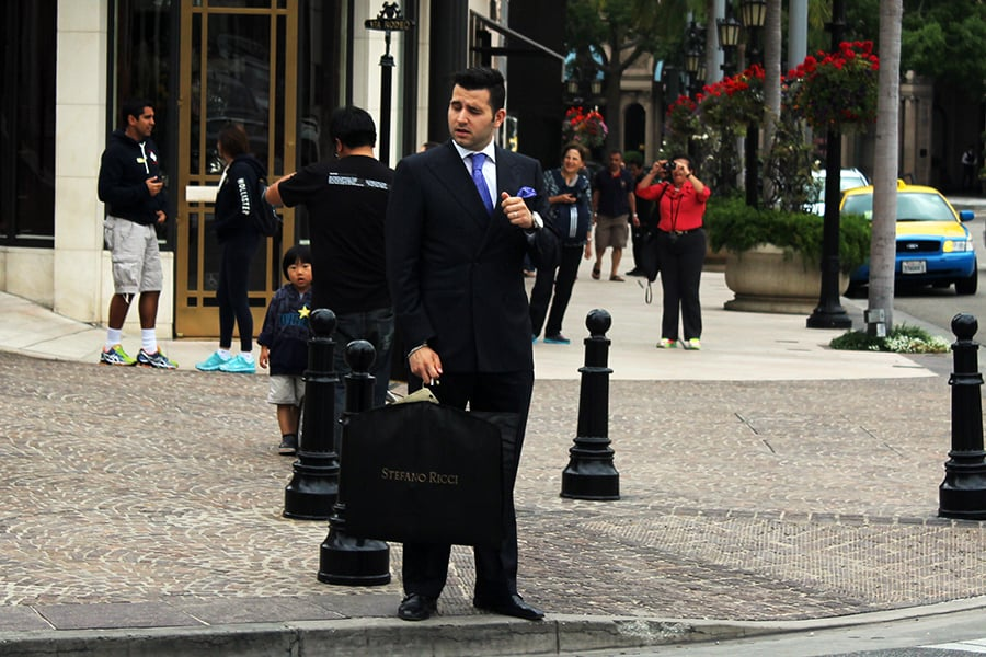 Man in Suit Rodeo Drive