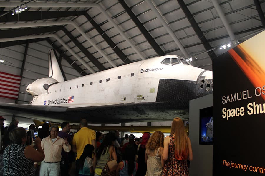 Not quite. Okay, so I failed at getting a shot of the Endeavour in its entirety.