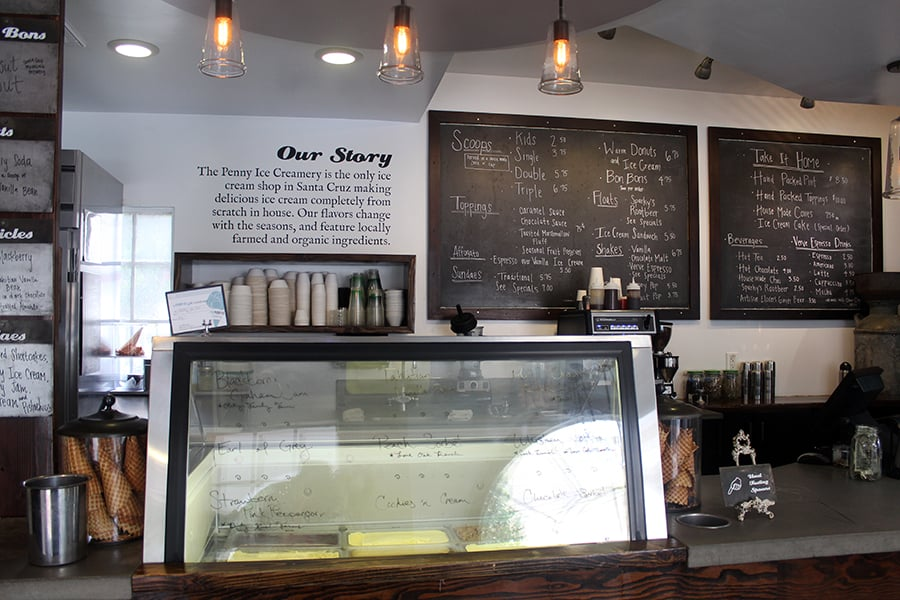 inside Penny Ice Creamery