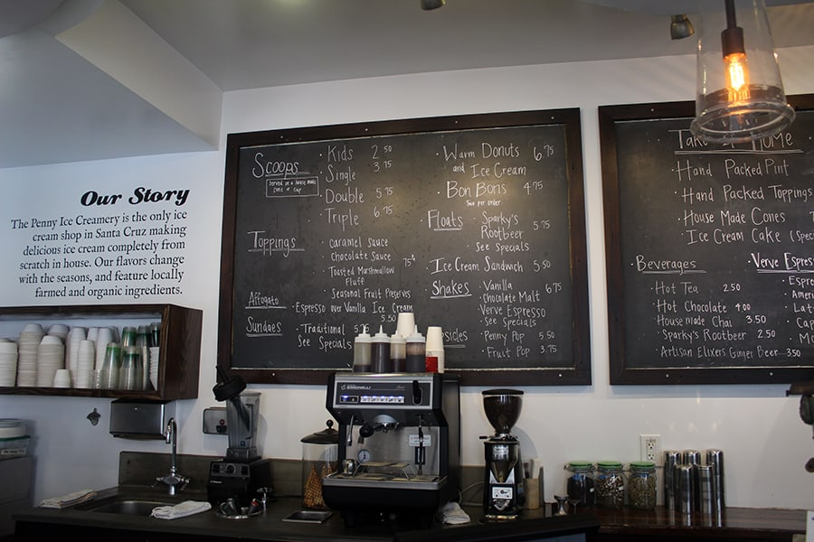 Penny Ice Creamery menu