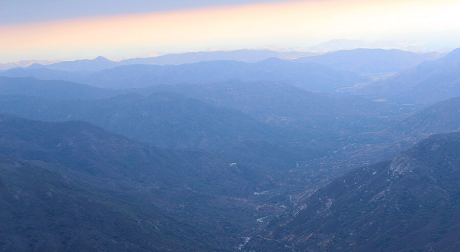 And of course this photo doesn't do the view from Moro Rock justice, so you have to go there and see for yourself