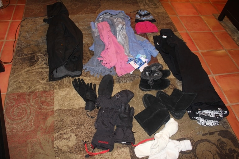 Lots of extra winter clothes