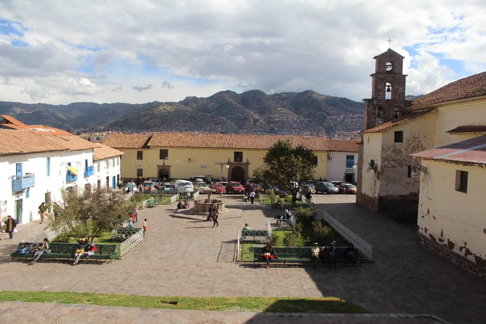 San Blas Plaza in Cusco Peru