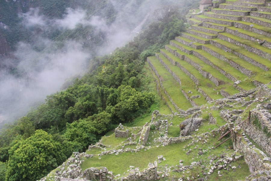 Inca terraces at Machu Picchu