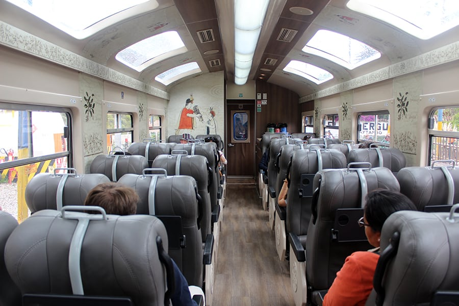 Inside the PeruRail Expedition Train