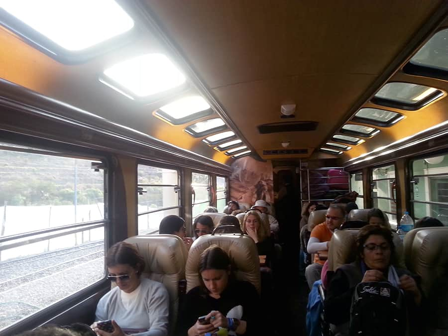 Inside Inca Rail's Executive train