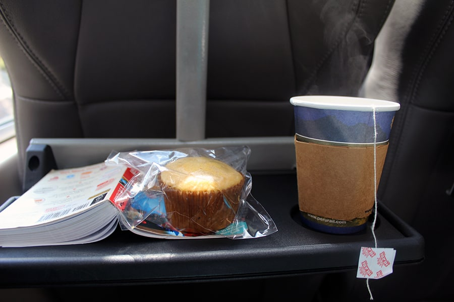 Snacks on PeruRail's Expedition train