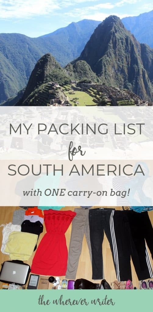 South America Packing List Peru