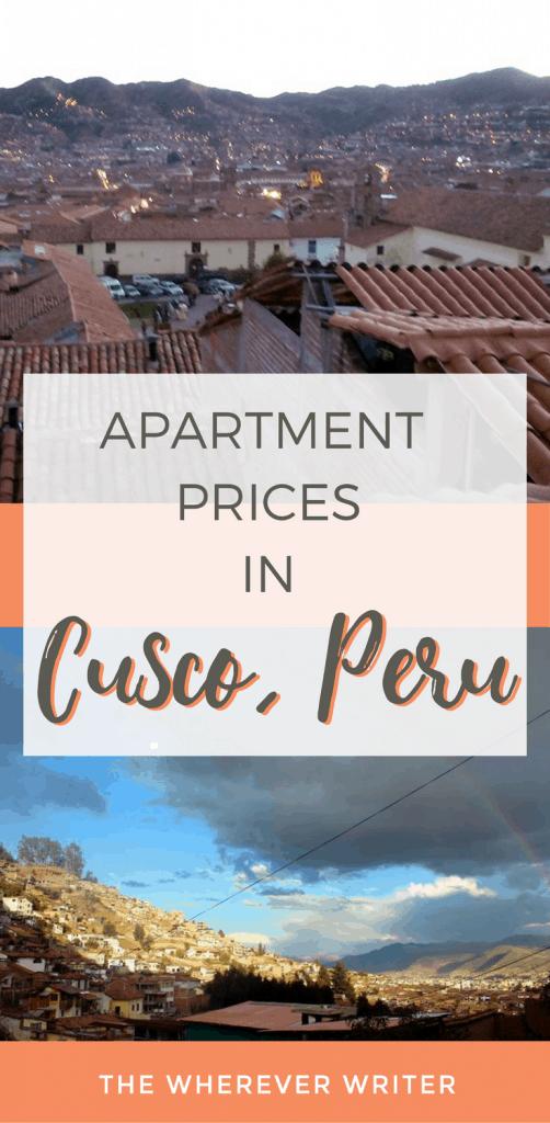 Apartment Prices in Cusco, Pero