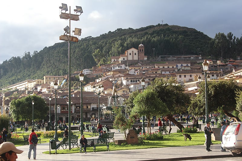 San Cristobal from the Plaza de Armas