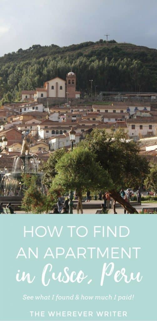 How to Find an Apartment in Cusco, Peru