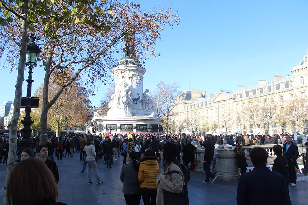 Place de la République after the Paris Terror Attacks