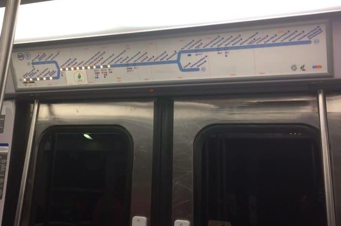 How to Use the Paris Metro - Metro map on top of doors in Paris metro