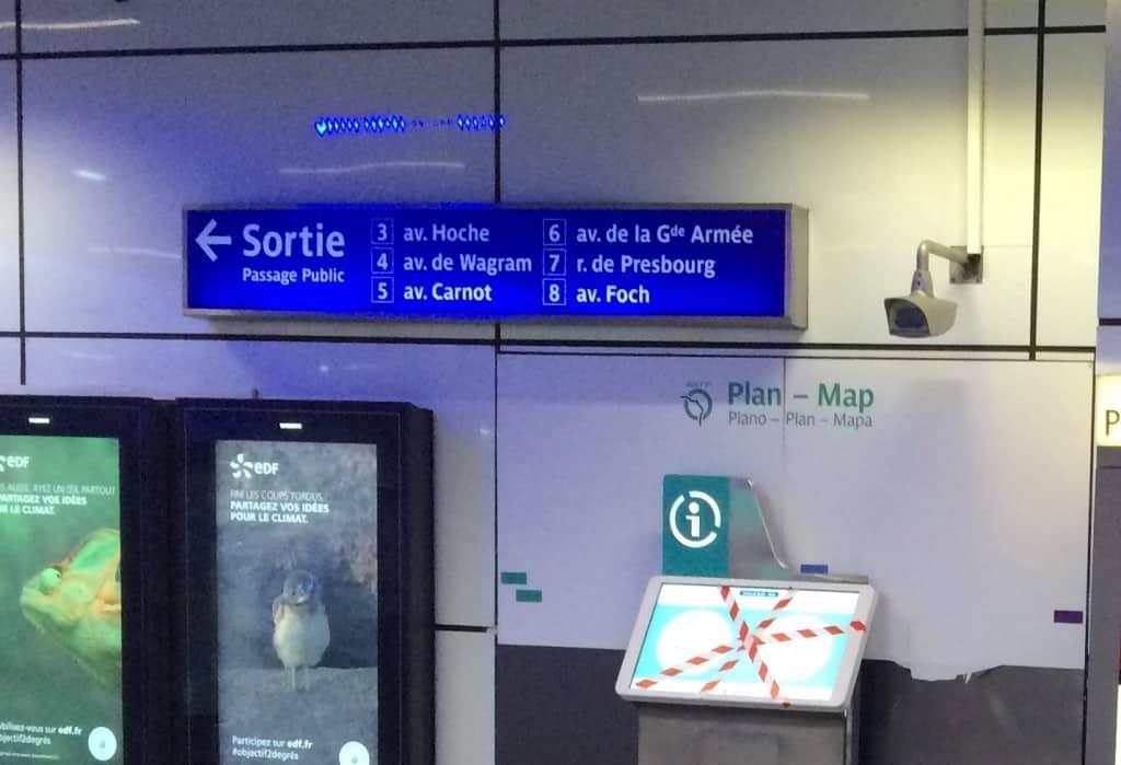 How to Use the Paris Metro - Sortie numbers in Paris metro
