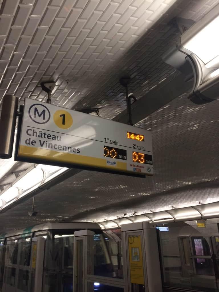 How to Use the Paris Metro - Metro line 1 sign in Paris
