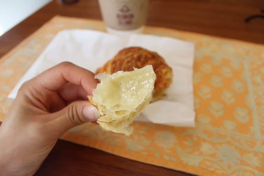 Buttery cheddar croissant Fantail Bakery