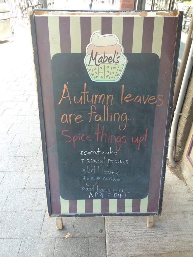 Mabel's Bakery Toronto - street sign