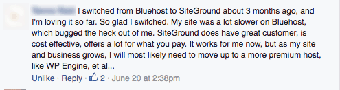 Bluehost vs. SiteGround review from a fellow blogger