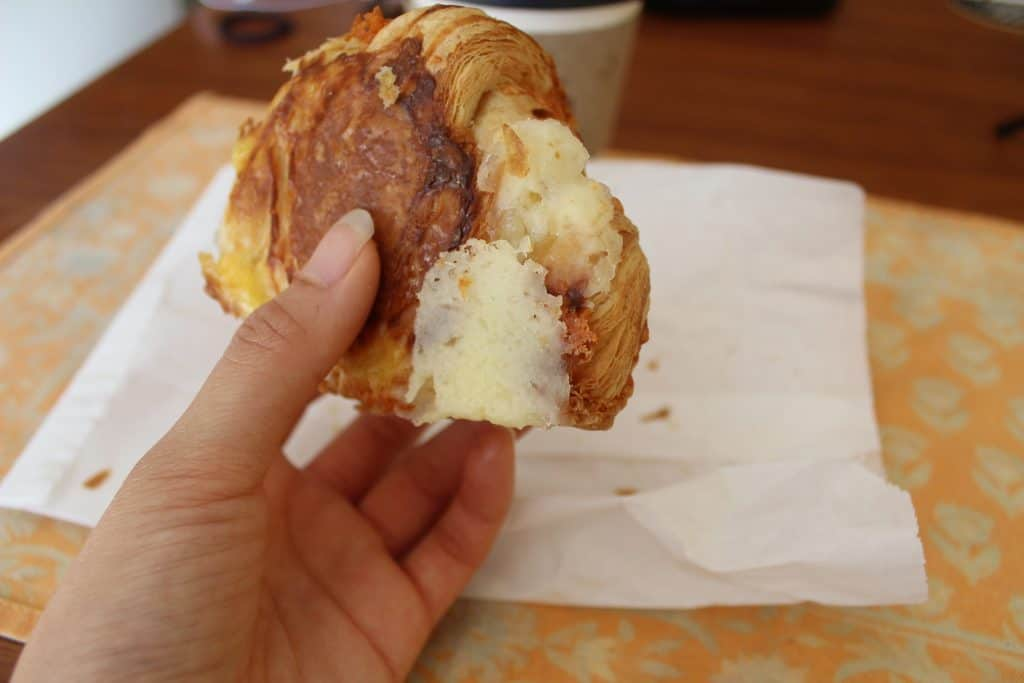 cheddar croissant bottom Fantail Bakery
