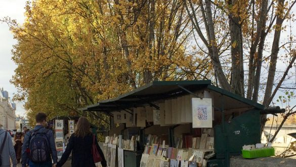 what to wear in paris in the fall - autumn leaves along the seine