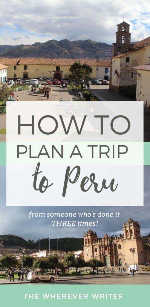 Plan a trip to Peru