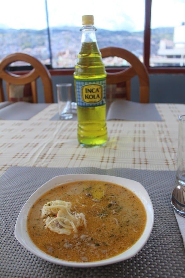 Typical foods in Peru: Inca Kola