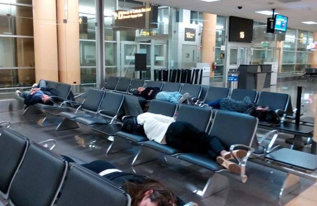 sleeping in lima airport