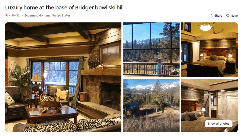 Airbnb Rental Home In Bozeman, Montana