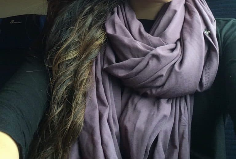 Purple Chrysalis Cardi Looped Infinity Scarf