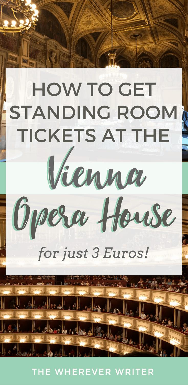 Vienna opera standing ticket best option