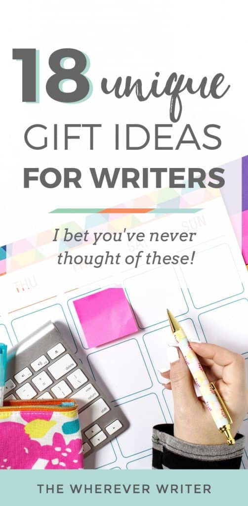 Unique gifts for writers | Gifts for aspiring writers | Writing gift ideas